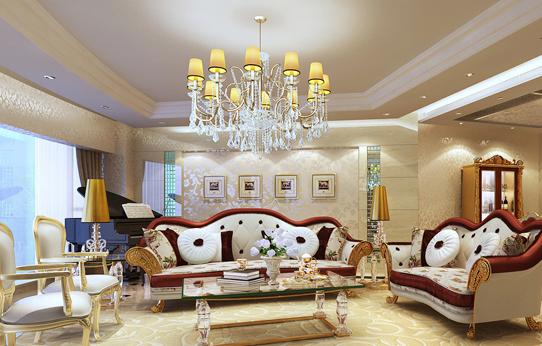 欧式奢华客厅设计